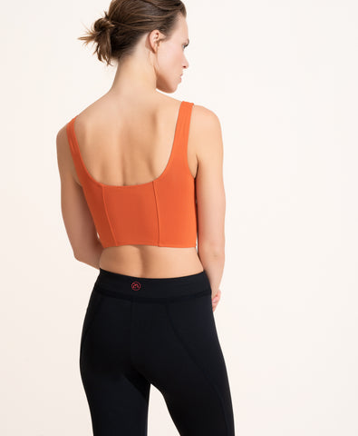 Jade Crop Top - Rust
