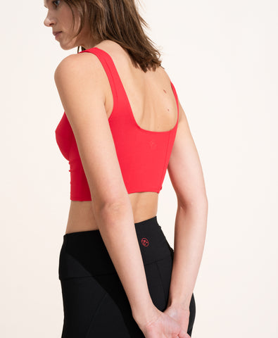 Jade Crop Top - Scarlet