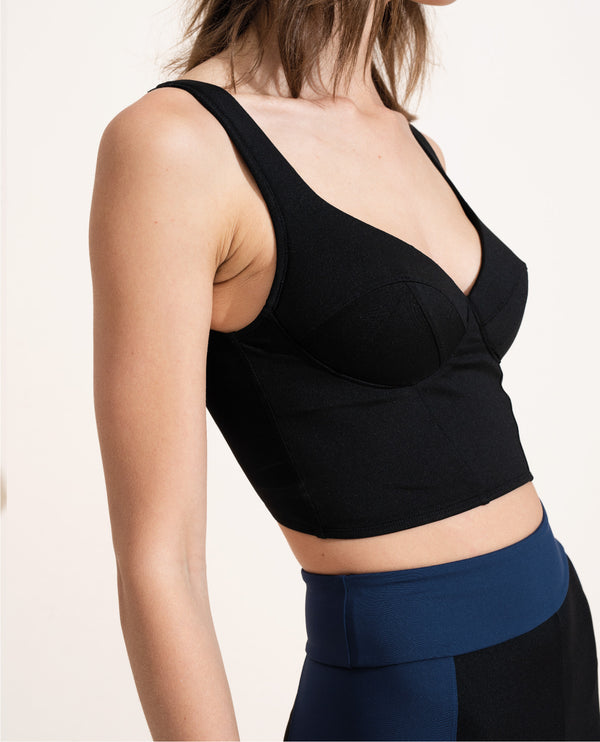Jade Crop Top - Black