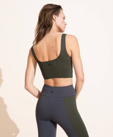 Jade Crop Top - Olive