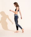 Mara Legging - Navy / Black / Ivory