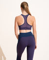 Perform Bra - Purple / Navy