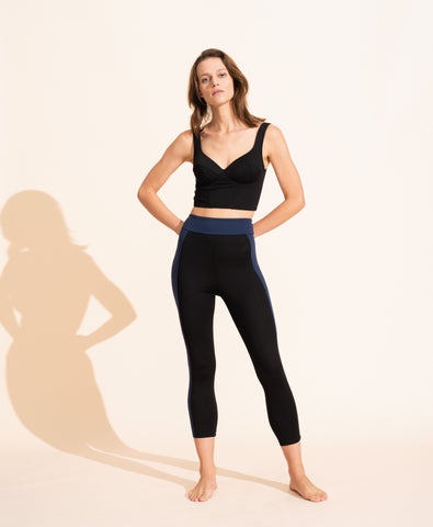 Therese Legging - Black / Navy