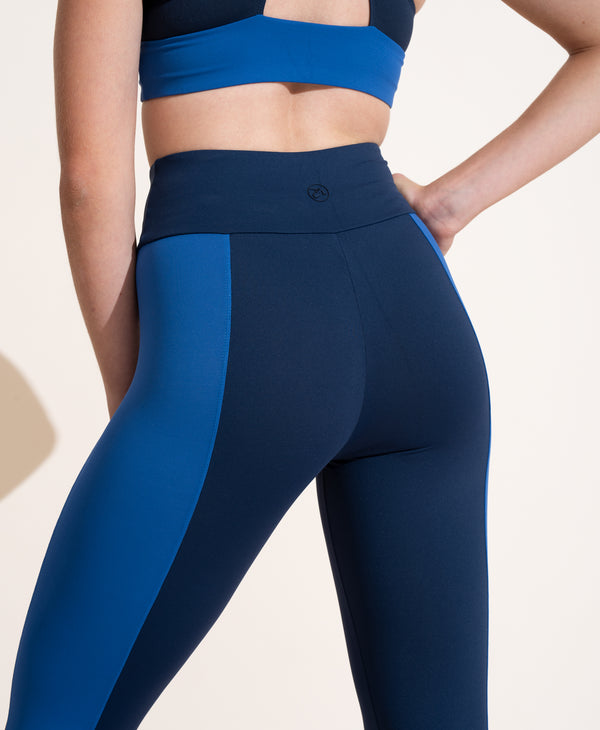 Therese Legging - Navy / Cobalt