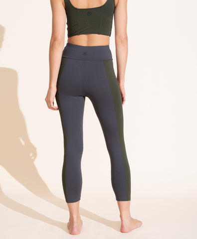 Therese Legging - Charcoal/Olive