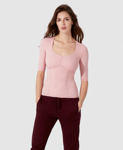 Ines Long Sleeves Top - Blush