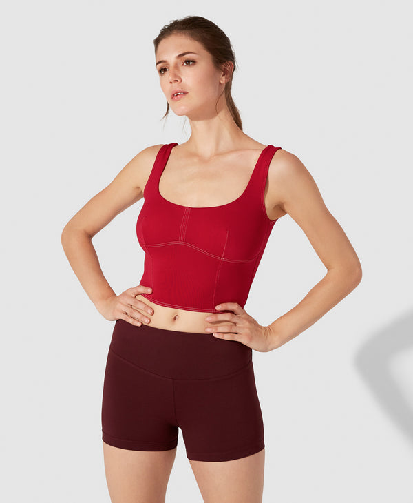 Louise Crop Top - Red