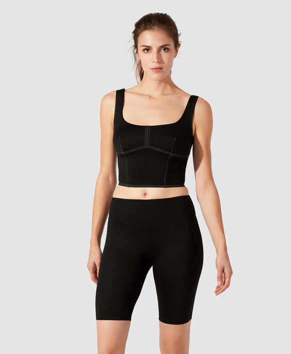 Louise Crop Top - Black
