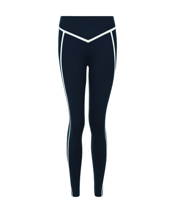 Corset Legging Navy / White