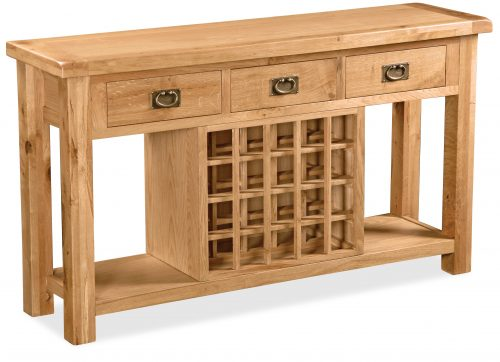 Salisbury Console Table With Wine Rack - Clearance Factors