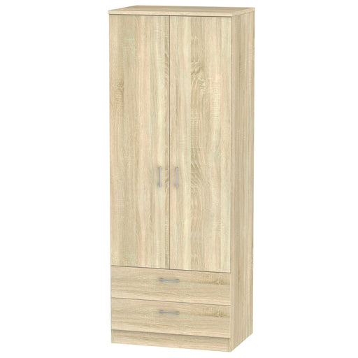 Devon Tall 2'6 2 Drawer Wardrobe - Clearance Factors