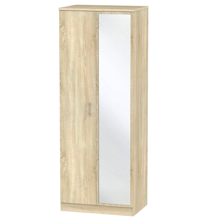 Devon Tall 2'6 Mirrored Wardrobe - Clearance Factors