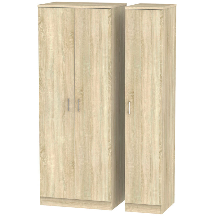 Devon Tall Triple Plain Wardrobe - Clearance Factors