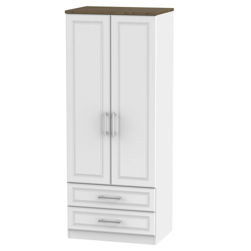 Kent 2'6 2 Drawer Wardrobe - Clearance Factors
