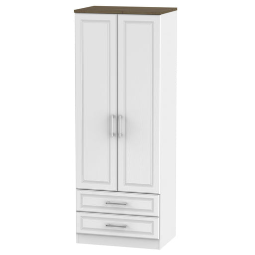 Kent Tall 2'6 2 Drawer Wardrobe - Clearance Factors