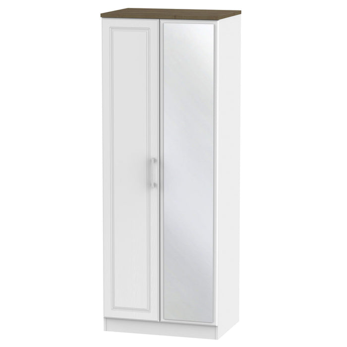 Kent Tall 2'6 Mirrored Wardrobe - Clearance Factors