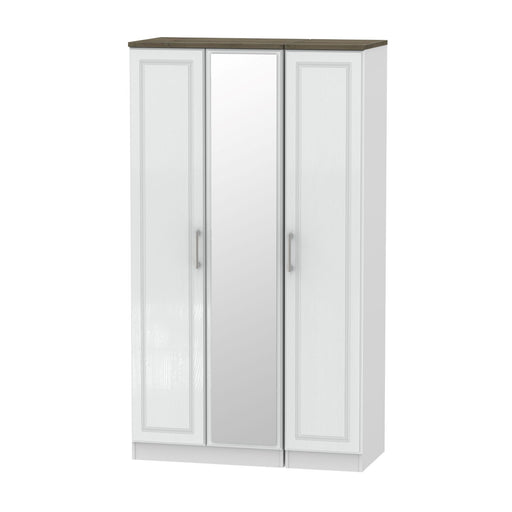 Kent Triple Mirrored Wardrobe - Clearance Factors