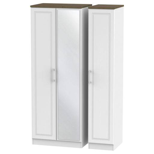 Kent Tall Triple Mirrored Wardrobe - Clearance Factors