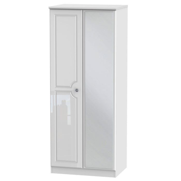 Pembroke 2'6 Mirrored Wardrobe - Clearance Factors