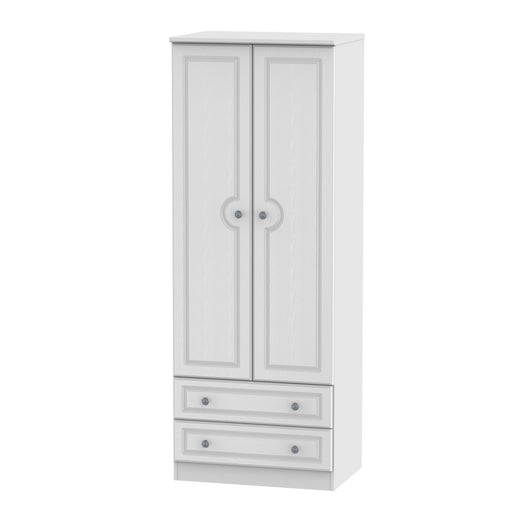 Pembroke Tall 2'6 2 Drawer Wardrobe - Clearance Factors