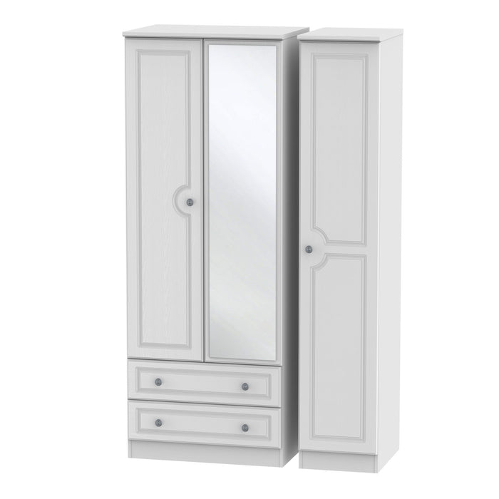 Pembroke Tall Triple 2 Drawer Mirrored Wardrobe - Clearance Factors