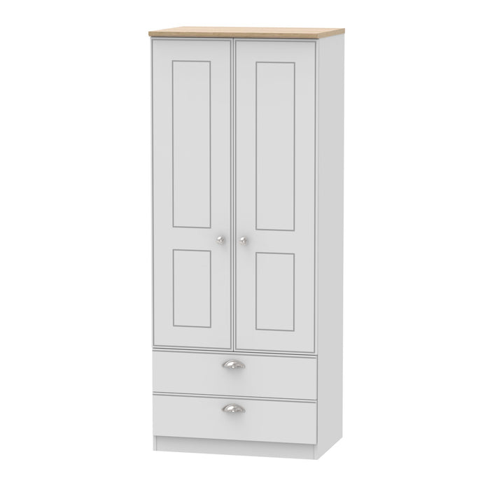 Victoria 2'6 2 Drawer Wardrobe - Clearance Factors