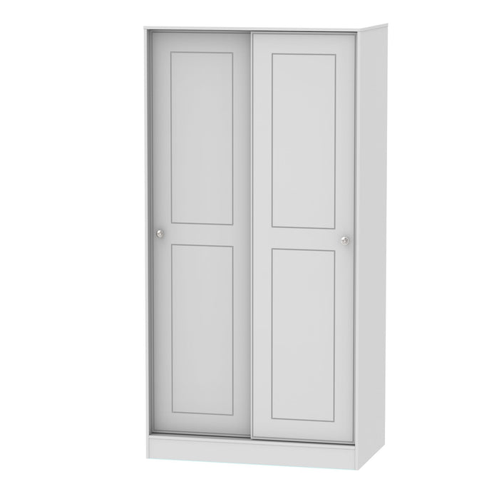 Victoria 100cm Sliding Wardrobe - Clearance Factors