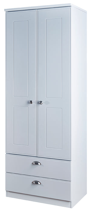 Victoria Tall 2'6 2 Drawer Wardrobe - Clearance Factors
