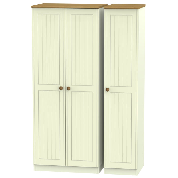Warwick Tall Triple Plain Wardrobe - Clearance Factors