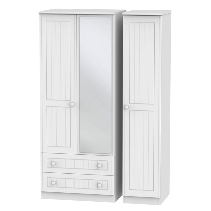 Warwick Triple 2 Drawer Mirrored Wardrobe - Clearance Factors