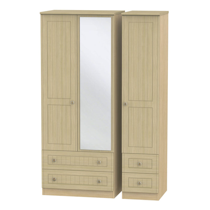 Warwick Triple 2 Drawer Mirror + Drawer Robe - Clearance Factors