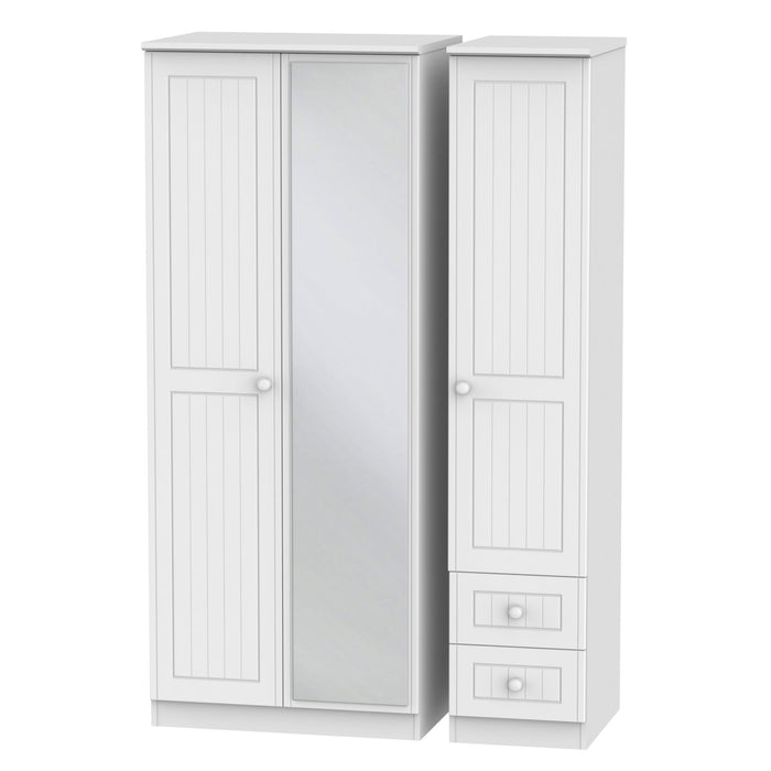 Warwick Triple Mirrored + Drawer Robe - Clearance Factors