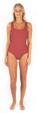 Sutton One Piece // Garnet Dot