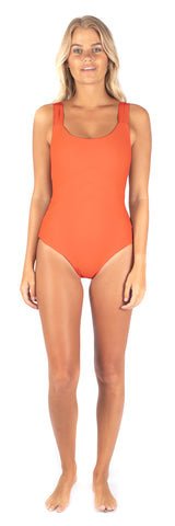 Hibiscus One Piece // Lagoon Stripe