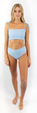 Izzy Bottom // Powder Blue (ribbed)