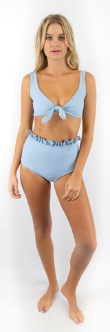 Marbella Top // Powder Blue (ribbed)