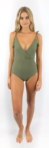 Luna One Piece // Oat (ribbed)