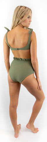Lila Bottom // Teal (ribbed)