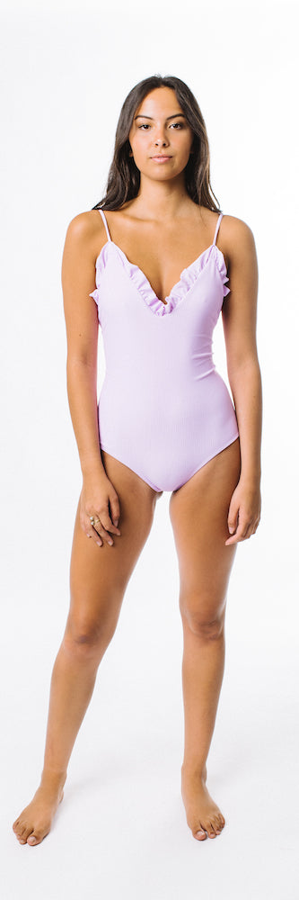 Rosalyn One Piece // Lilac (ribbed)