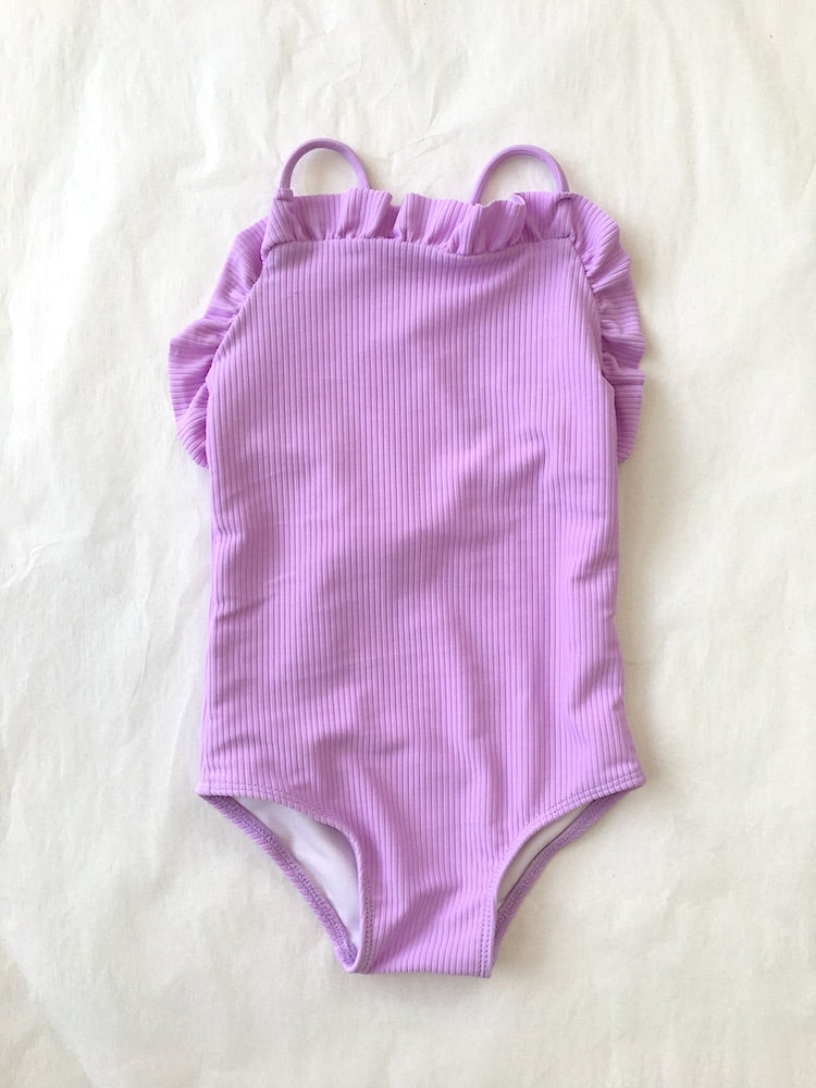Ruthie One Piece // Lilac (ribbed)