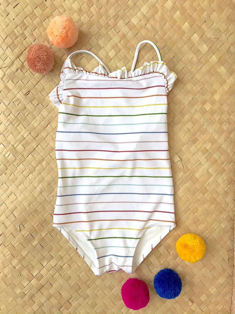Ruthie One Piece // Rainbow Stripe
