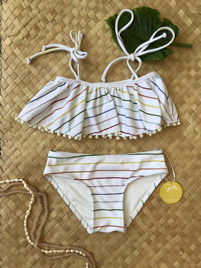 Ella Bikini Set // Rainbow Stripe