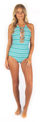 Sadie One Piece // Rainbow Stripe