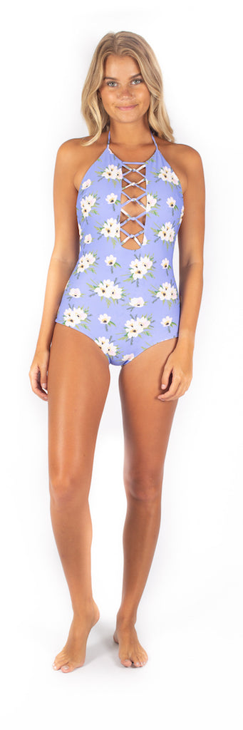 Hibiscus One Piece // Bleu Blossoms