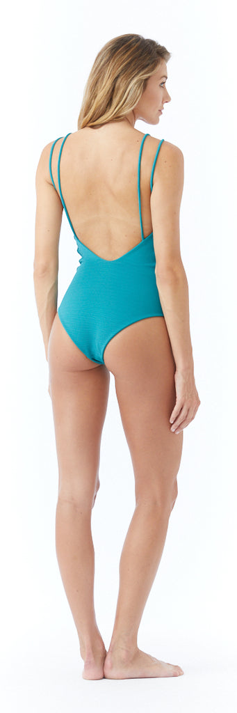 Lucia One Piece // Ocean (ribbed)
