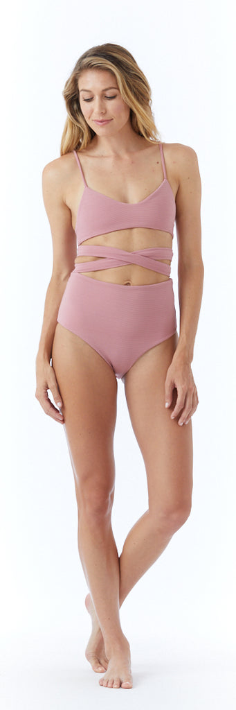 Senna Bottom // Dusty Rose (ribbed)