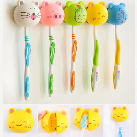 """Cartoon Animal"" Toothbrush Holder Decorhomium"