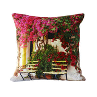 3D design flower door decorative pillows-Decorhomium