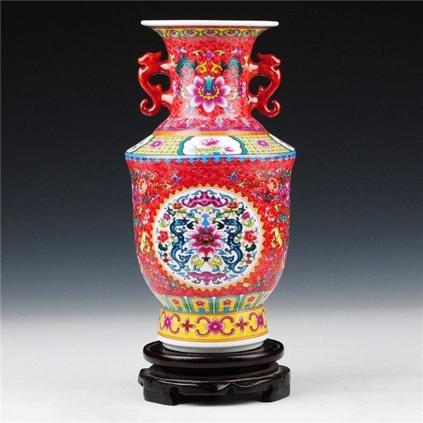 Antique Royal Ceramic Vase-Decorhomium