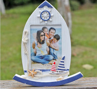 Boat Design Wooden Photo frame-Decorhomium